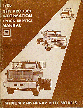 search  1983 chevy gmc medium heavy truck original service information manual