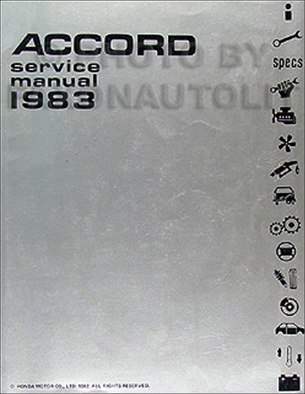 1983 Honda Accord Repair Manual Original