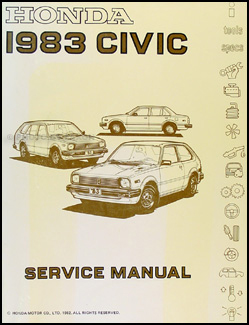 1983 Honda Civic Repair Manual Original