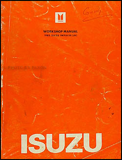 1983 Isuzu Impulse Repair Manual Original