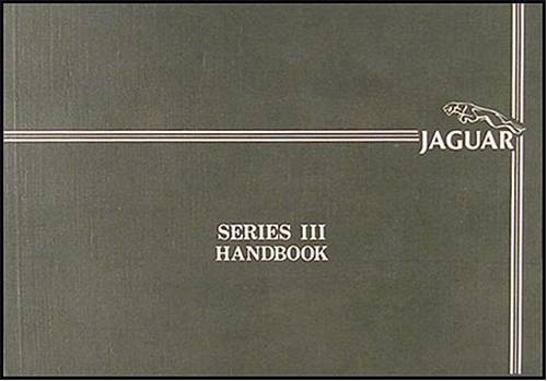 1986-1987 Jaguar XJ6 Owner's Manual Original