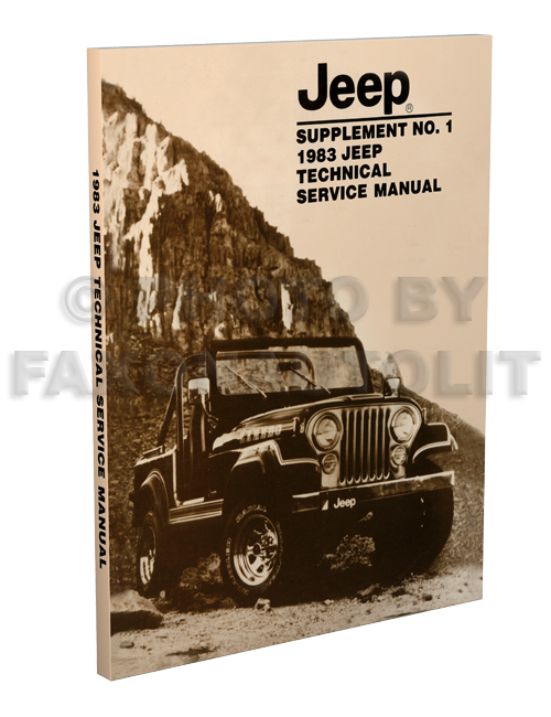 1983 Jeep Shop Manual Supplement Reprint