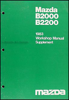 1983 Mazda B2000 B2200 Repair Manual Supplement Automatic Transmission