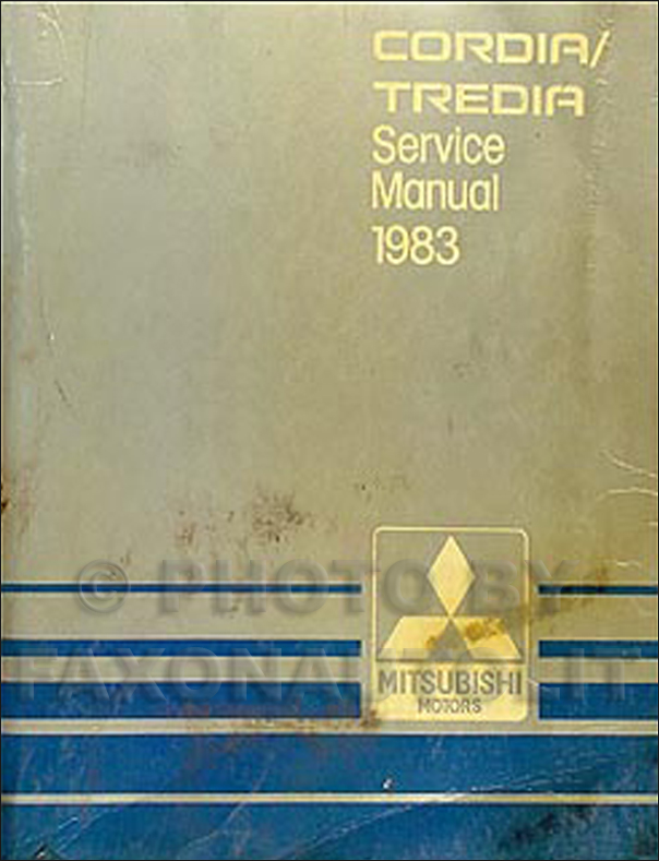 1983 Mitsubishi Cordia/Tredia Repair Manual Original