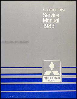 1983 Mitsubishi Starion Repair Manual Original