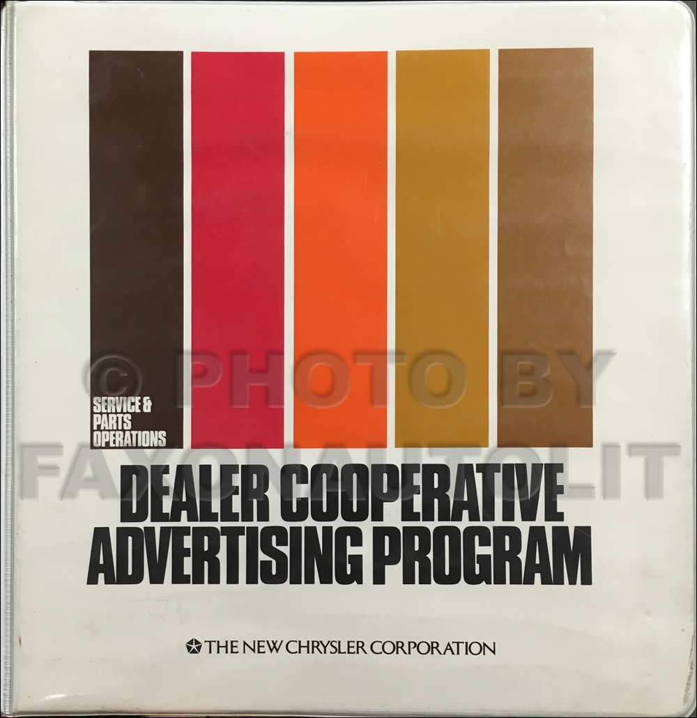 1983 Mopar Dealer Parts and Service Advertising Planner Original