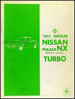 1983 Datsun Nissan Pulsar NX Turbo Repair Manual Supplement-II Original