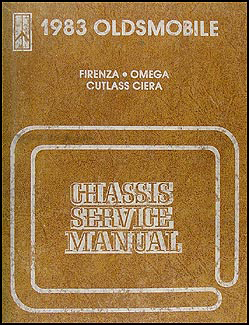1983 Olds Firenza, Omega, Cutlass Ciera Repair Manual Original