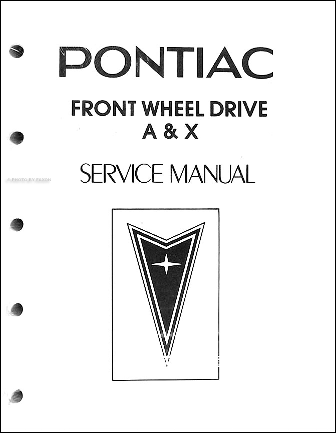 1983 Pontiac Phoenix and 6000 Shop Manual Original Looseleaf