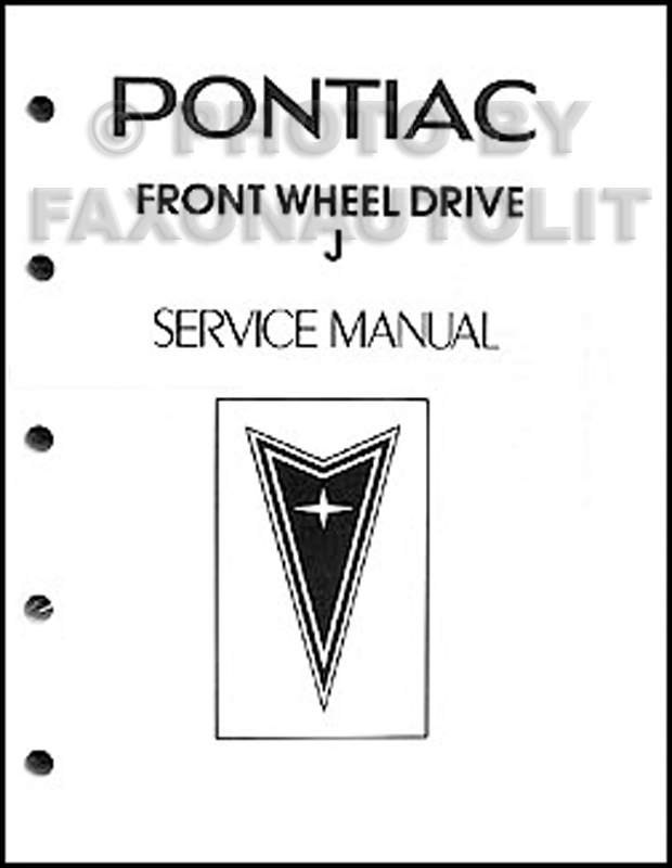 1983 Pontiac J2000 and Sunbird Shop Manual Original Looseleaf