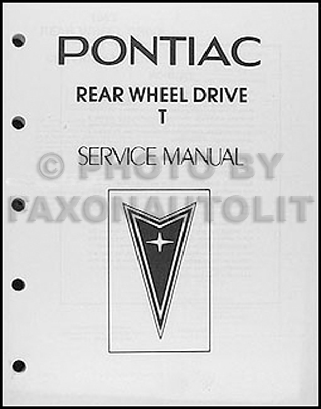 1983 Pontiac T1000 Shop Manual Original Looseleaf