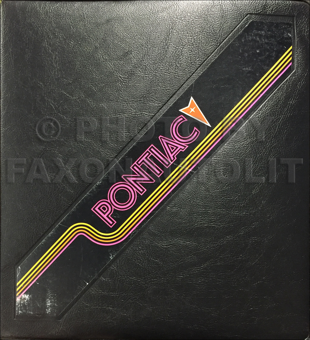 1983 Pontiac Color & Upholstery Dealer Album/Data Book Original