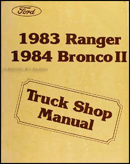 1984 Ford Bronco II Repair Manual Original