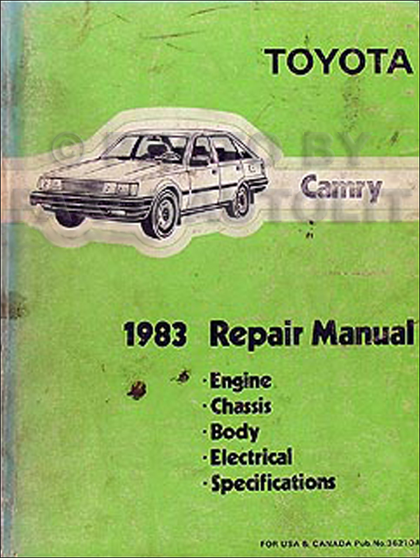 1983 Toyota Camry Repair Manual Original
