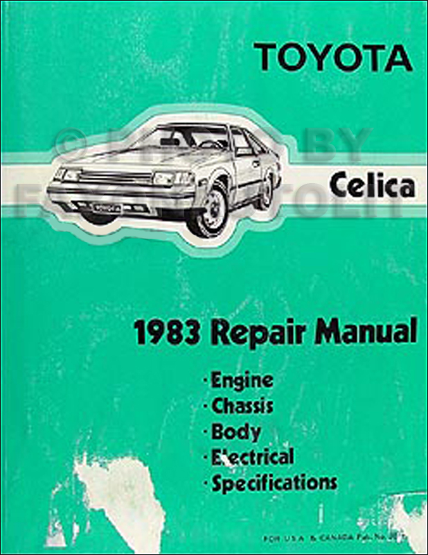 1983 Toyota Celica Repair Manual Original