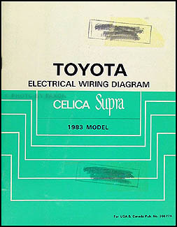 1983 Toyota Celica Supra Wiring Diagram Manual Original