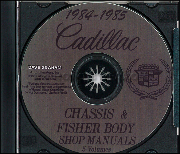 1984-1985 Cadillac Repair Shop Manual and Body Manual on CD-ROM