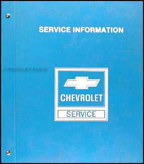 1985 Chevrolet Astro Van Shop Manual Original