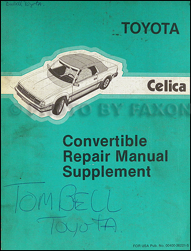 1985 Toyota Celica Wiring Diagram Manual Original