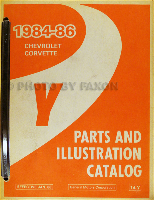 1984-1986 Chevrolet Corvette Parts Book Original