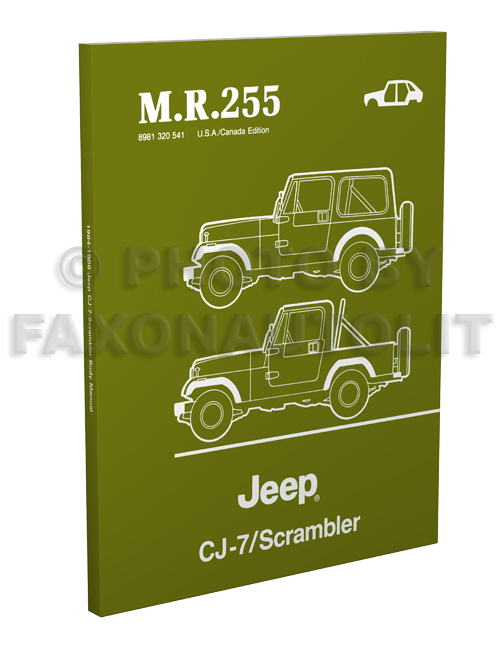 1984-1986 Jeep CJ-7 & Scrambler Body Manual Reprint MR255