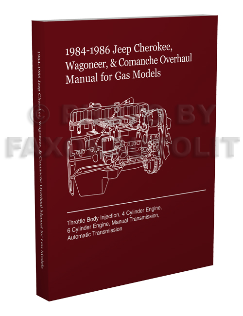 1984-1986 Cherokee, Wagoneer, & Comanche Overhaul Manual Reprint  for Gas Models
