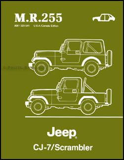 1984-1986 Jeep CJ-7 & Scrambler Body Manual Original MR255