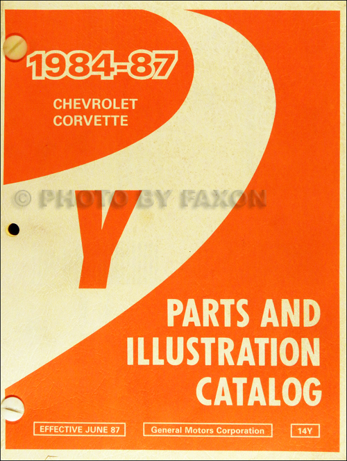1984-1987 Chevrolet Corvette Parts Book Original