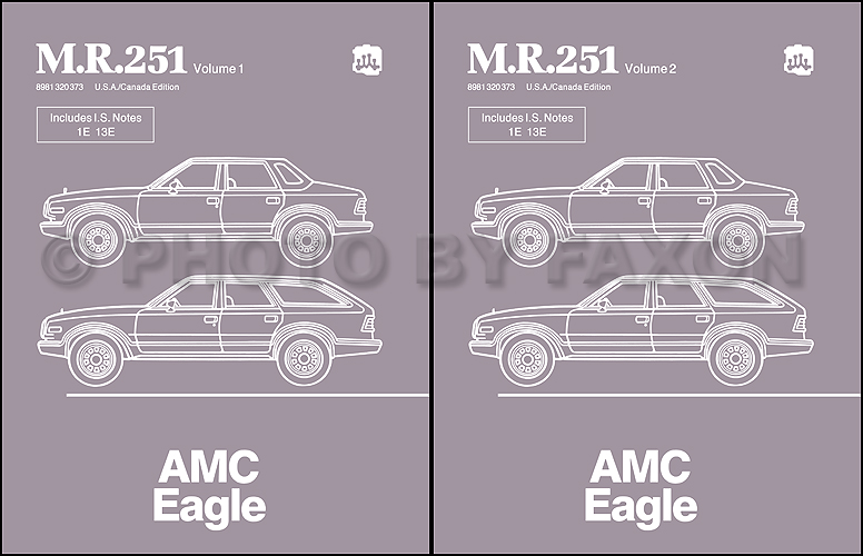 1984-1988 AMC Eagle Repair Shop Manual Reprint M.R.251