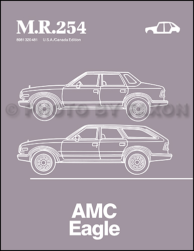 1984-1988 AMC Eagle Body Manual Reprint M.R.254