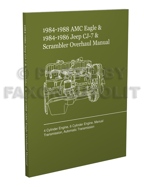 1984-1988 Eagle and CJ-7/Scrambler Engine/Transmission Overhaul Manual