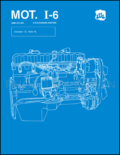 1984-1988 AMC & Jeep 4.0L 4.2L 6 Cyl. Engine Overhaul Manual Reprint