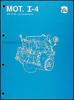 1984-1988 AMC & Jeep 4 Cylinder Engine Overhaul Manual Reprint