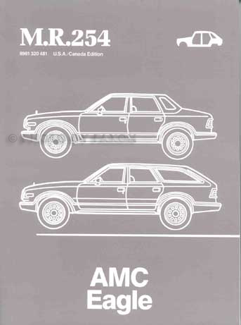 1984-1988 AMC Eagle Body Manual Original M.R.254