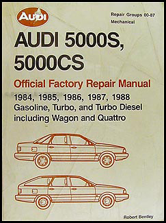 1984-1988 Audi 5000 Bentley Repair Manual Original