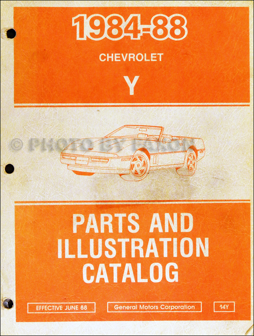 1984-1988 Chevrolet Corvette Parts Book Original