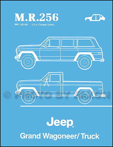 1984-1988 Jeep Grand Wagoneer/Truck Body Manual Reprint--M.R.256