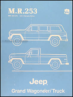 1984-1988 Jeep Grand Wagoneer & Truck Shop Manual Original M.R.253
