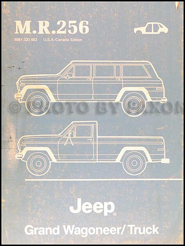 1984-1988 Jeep Grand Wagoneer/Truck Body Manual Original--M.R.256
