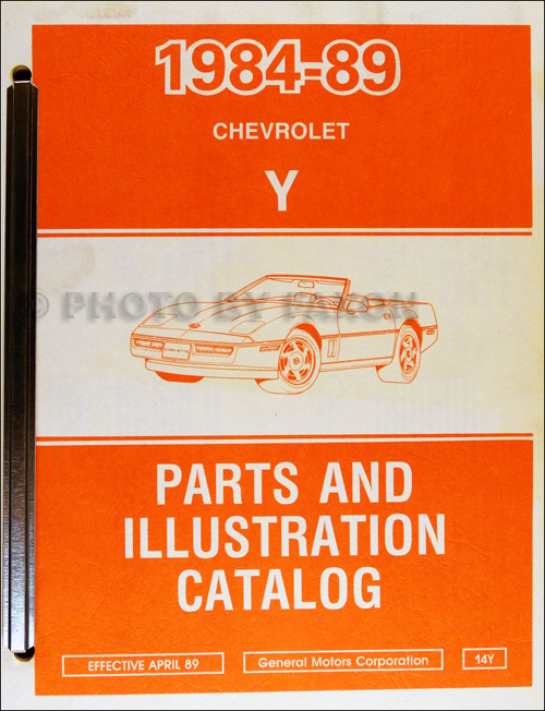 1984-1989 Chevrolet Corvette Parts Book Original