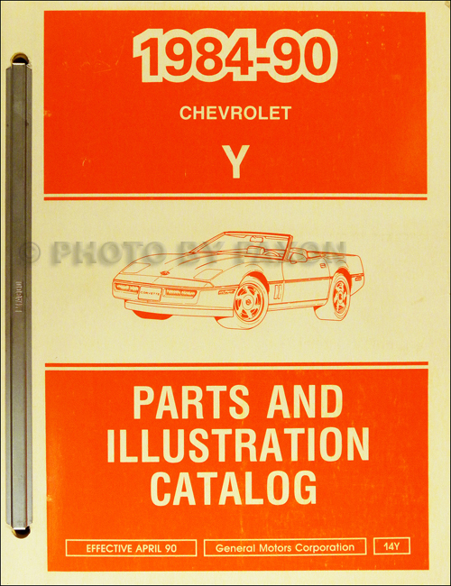 1984-1990 Chevrolet Corvette Parts Book Original