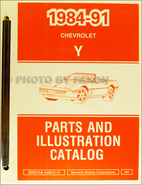 1984-1991 Chevrolet Corvette Parts Book Original