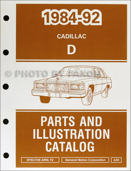 1984-1992 Cadillac Fleetwood Brougham RWD Parts Book Original
