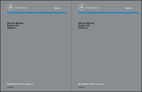 1984-93 Mercedes 102 Engine Reprint Repair Manual