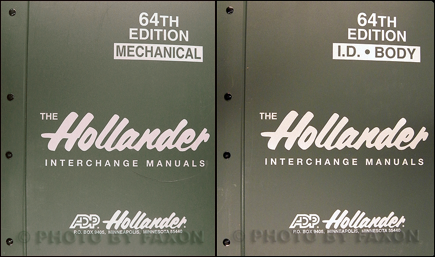1984-1998 Hollander 64th Edition Parts Interchange Manual