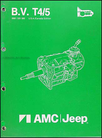 1984-1988 AMC & Jeep BV T4/5 Manual Transmission Overhaul Manual Orig.