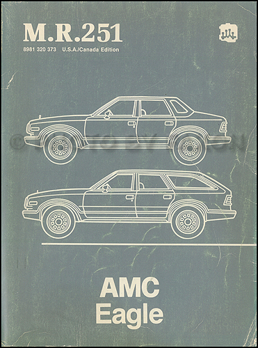 1984 AMC Eagle Shop Manual Original M.R.251