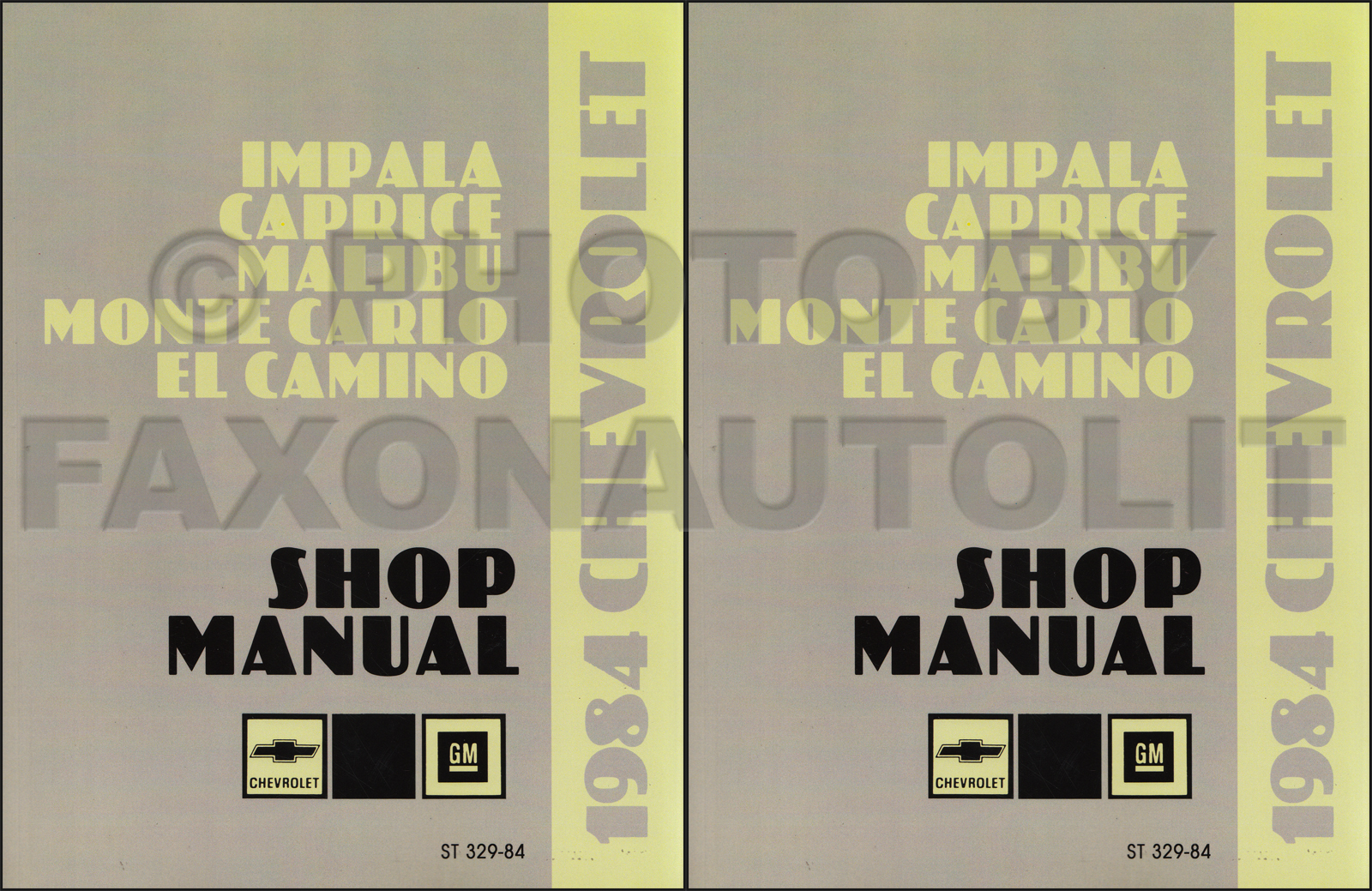 1984 Chevy Big Car Repair Manual Original--Impala Caprice Malibu Monte  Carlo El Camino