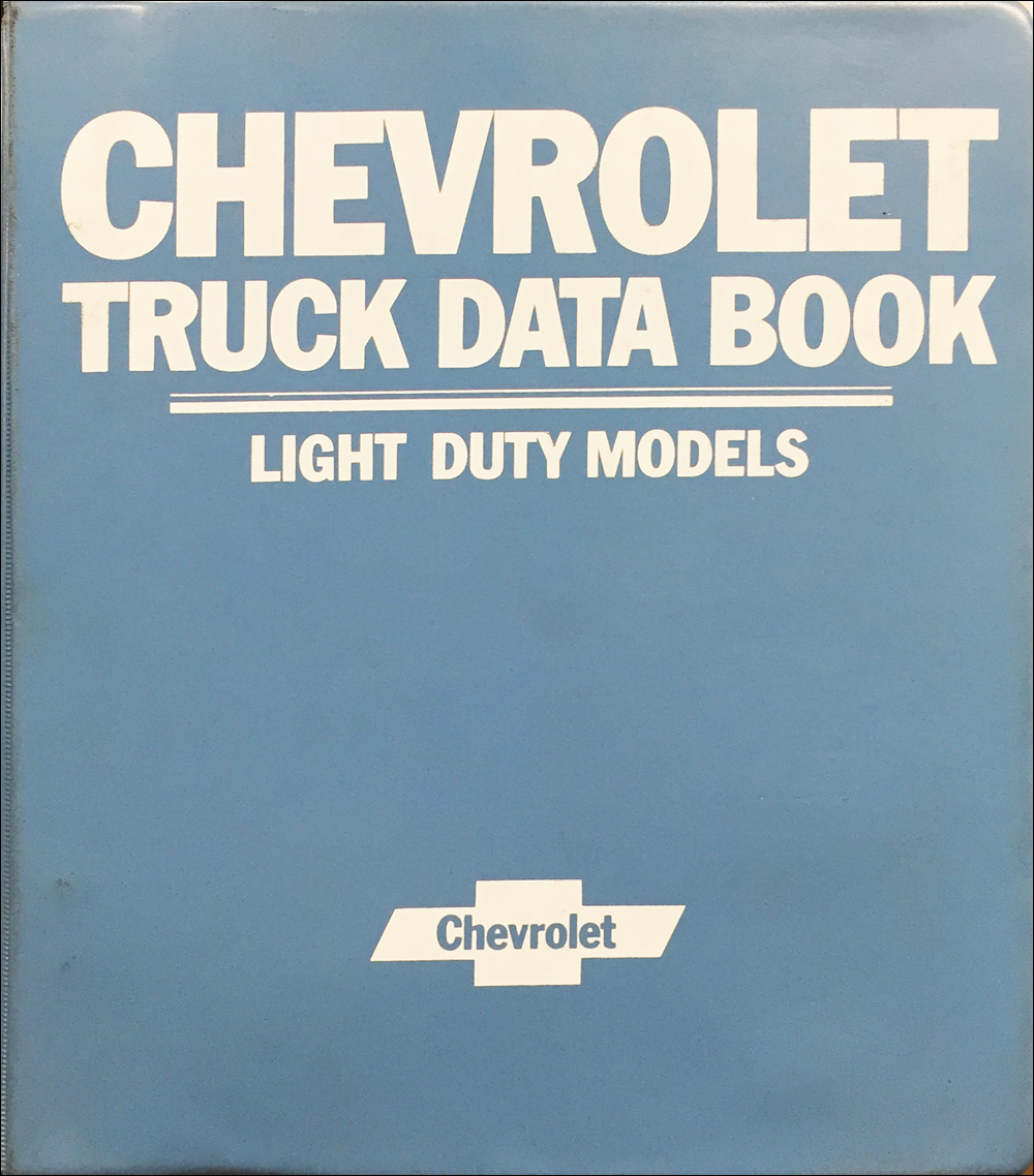1984 Chevrolet Truck Data Book and Color and Upholstery Dealer Album Original