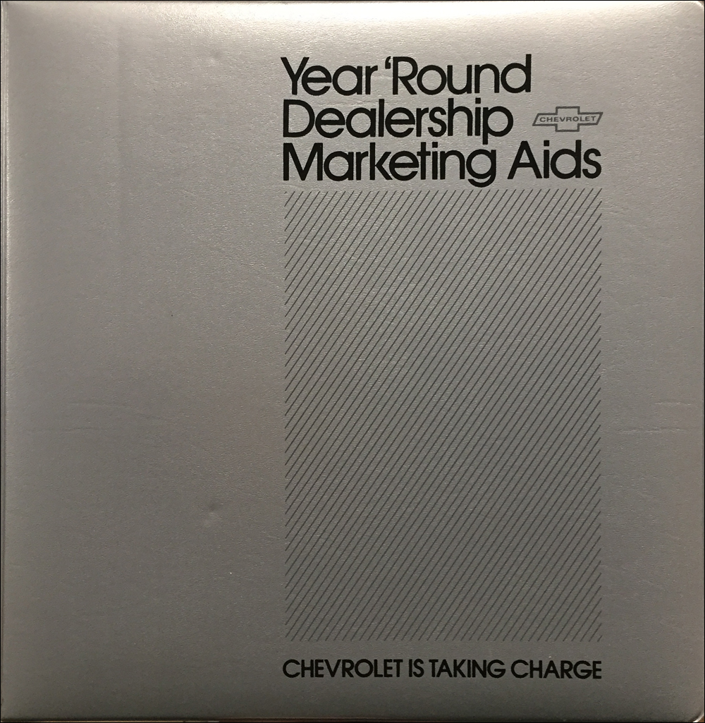 1984 Chevrolet Marketing Aids Dealer Album Original
